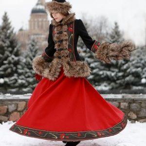 Dresses & Skirts - Russian Folk Outfit jacket + skirt